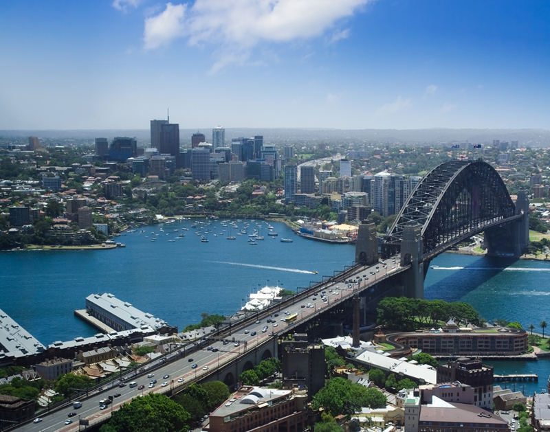 The Sydney Harbour Bridge is a focal point of the city. Climbing it grants extraordinary views of the skyline.