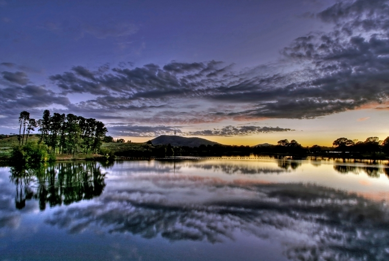 Lake Burley Griffin is another of Australia's outstanding lakes.