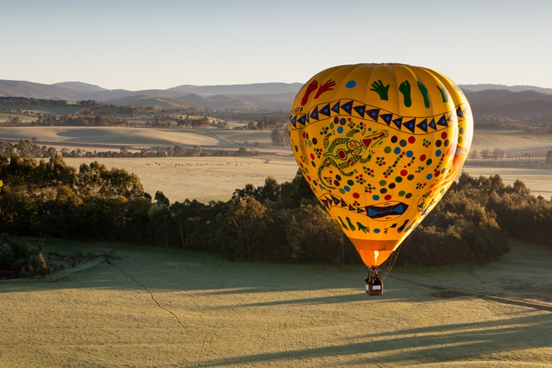 Seeing the sun rise over the undulating hills of Yarra Valley is a mesmerising experience.