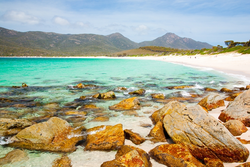 Join the other travellers trying to get the perfect picture of Wineglass Bay.