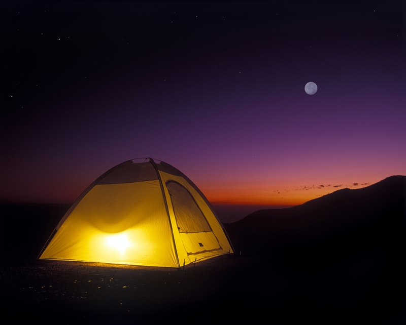 Camping is the cheapest way to get a room with a view.
