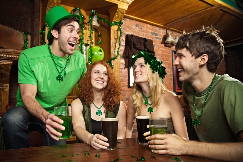 Celebrate St Patrick's day with some Guinness - and lots of green!