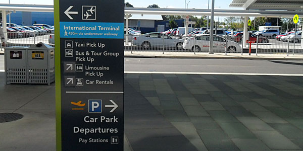 Directions Outside Cairns Airport Terminal to East Coast Car Rentals Customer Pick Up