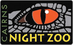 Cairns Night Zoo Logo with Black Background