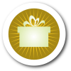Gift Icon with Yellow Background and White Border with Shadow