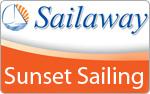 Sailaway Sunset Sailing Cairns Logo Orange and White Background