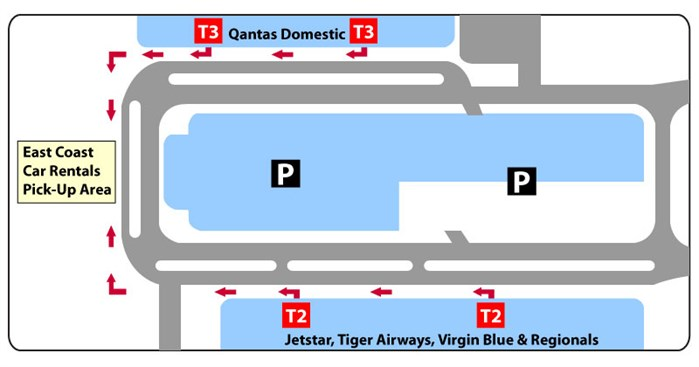 Sydney domestic airport terminal map