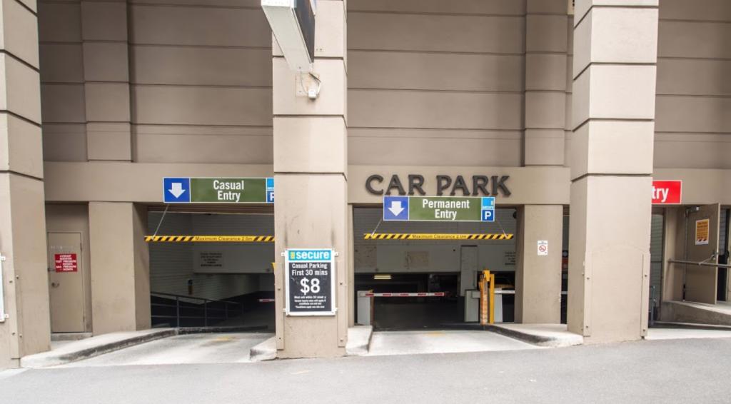 Melbourne City Car Rental Pick Up & Drop Off Entrance at Mint Car Park