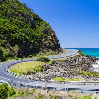 The Great Ocean Road with Blue Sea