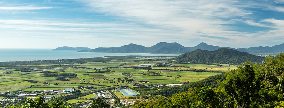 Mountain Vista of Coastal Plains in Cairns Far North Queensland