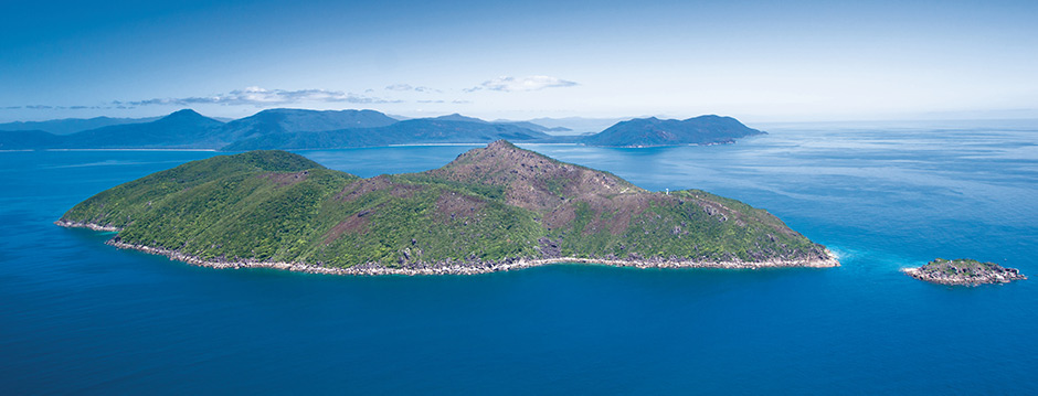 Aerial Photograph of Fitzroy Island Cairns in Far North Queensland