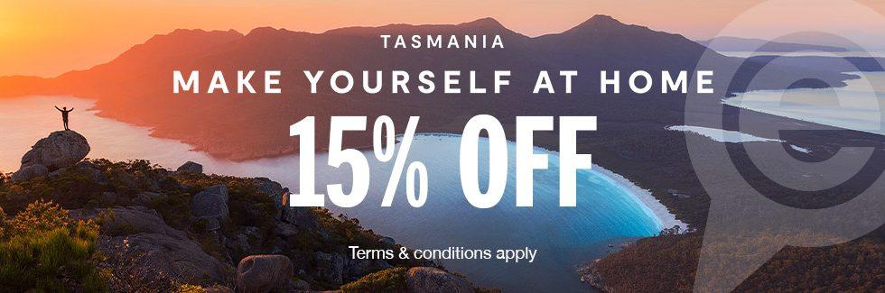 15% Off Tasmania