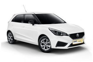 MG Core Hatch economy class vehicle with East Coast Car Rentals